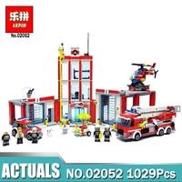 Lepin 02052 1029Pcs The City Fire Station Set Fireman Building Blocks Bricks Educational DIY Toys Compatible LegoING 60110