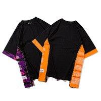 הסוואה חולצות גברים חולצות רחב מימדים מקרית קיץ מודפס שרוול קצר בגדי היפ הופ אופנה אורבאנית בגדי סקייטבורד