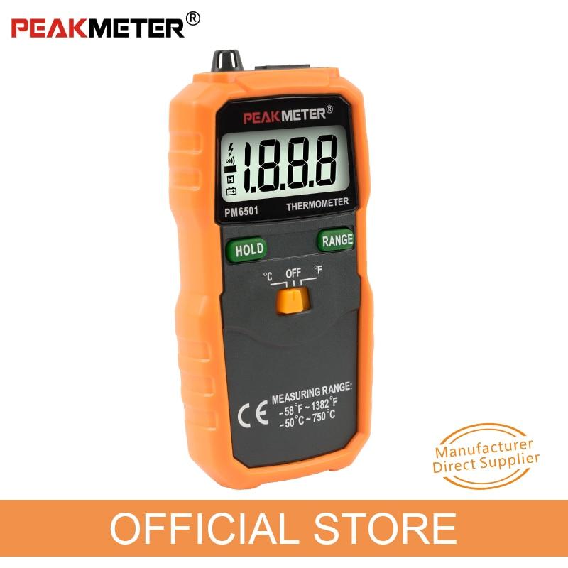 Hivatalos PEAKMETER PM6501 LCD kijelzős digitális hőmérő, K - Mérőműszerek - Fénykép 2