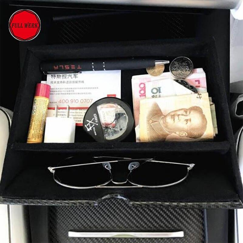 Mise à jour De Voiture Tableau de Bord Console Boîte De Rangement pour Tesla Model S Modèle X Casier Tiroir Contenant Contenu Boîte Auto Accessoires Intérieurs