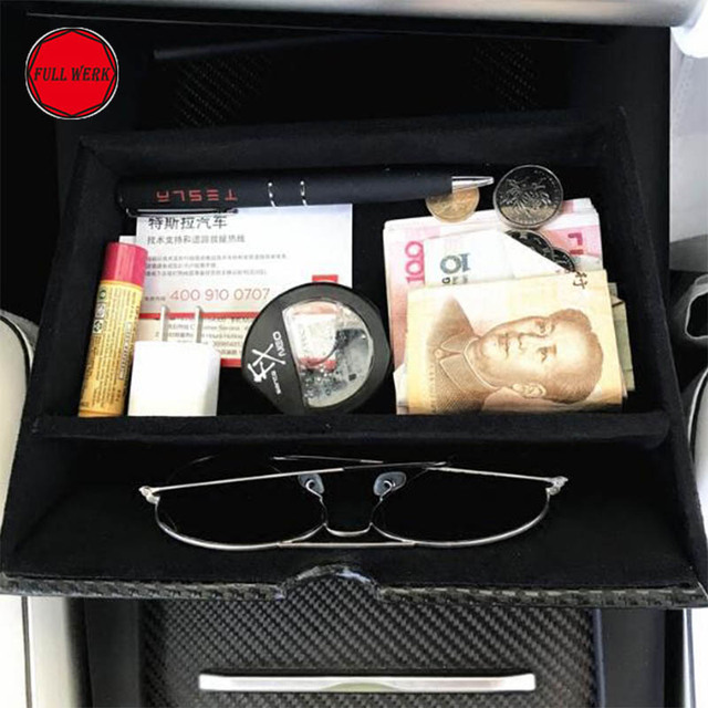 Updated Car Dashboard Console Storage Box for Tesla Model S Model X Cubby Drawer Container Content Box Auto Interior Accessories