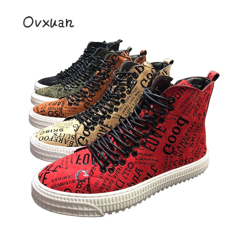 Totem Leather Rubber Gear Bottom Men s Casual Platform High Sneakers Men Loafers Male Designer Motorcycle