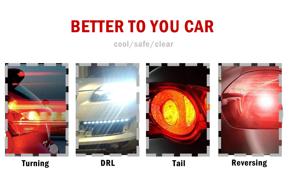 HTB1JiHcaLjsK1Rjy1Xaq6zispXaT 1X P21W Ba15s 1156 Led Filament Chip Car Light Bulb S25 Auto Vehicle Reverse Turning Instructions Lamp White 12v 24v 6000K