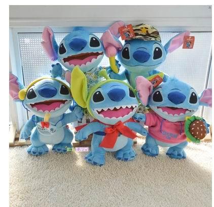2015 new Stitch 40cm (8colors) Soft Stuffed Plush animal Doll Toy. Children christmas ,new year best gif