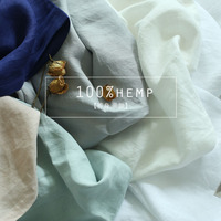 Extra wide Hemp fabric 100% pure Hemp cloth stone washed soft Hemp medium weight width 110inch Mediterranean ten colorsavialable