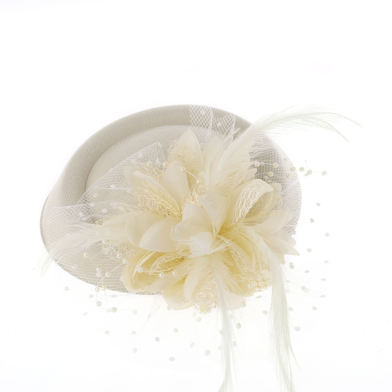 Chapeau Fascinant Plume Fleur