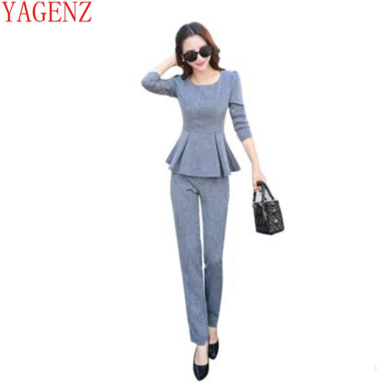 Europe spring clothes New Fashion Casual women's suit Slim two-piece women set Long sleeve Tops + Long pants female clothes