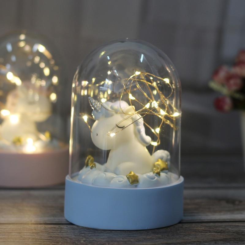 Cartoon LED Night Light Luminaria Garland Fairy String Lights Novelty Unicorn Night Lamp Bedside Lamp For Kids Christmas New Year Gift (9)