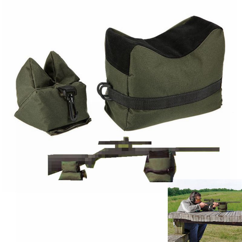 Unfilled Portable Shooting Rest Bags Front and Rear Shooting SandBag,2 Colors Bench Rest Shooting Bags Front and Rear SandBag Stand Holders for Guns
