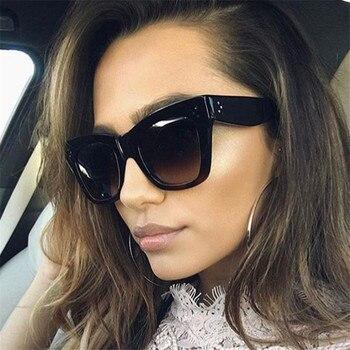 Oulylan Classic Cat Eye Sunglasses Women Vintage Oversized Gradient Sun Glasses Shades Female Luxury Designer UV400 Sunglass