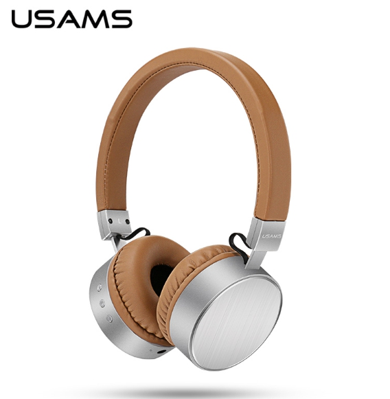 USAMS Brand Wireless Bluetooth Headset Stereo Sound Heavy Bass Headphones Earphone With Mic for iPhone /Computer Cellphone Music earfun brand big headphones with mic