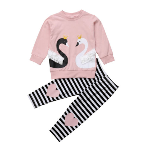 Kids Baby Girls Clothing Outfit Top T-shirt Long Sleeve Pants Set 2pcs Cotton Toddler Autumn Clothes Tracksuit Girl 1-6T кувалда fit 45233