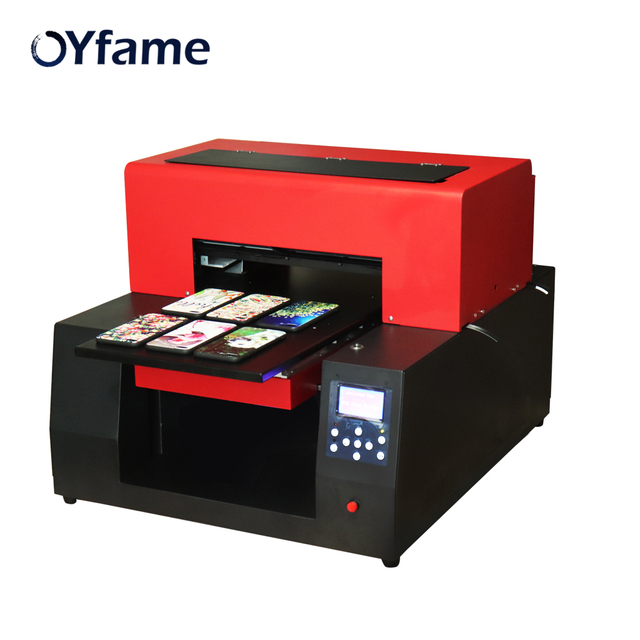 A3 UV Printer Automatic LED Flatbed Printer A3 UV Printer Phone Case Printer For Glass Metal Bottle Cylinder With Emboss Effect