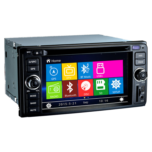 6.2 inch 2 Din In dash Car DVD Player GPS Navi System For Old Toyota Universal Vios RAV4 Collora Sequoia Yaris Hiace Highlander автомобильный dvd плеер joyous kd 7 800 480 2 din 4 4 gps navi toyota rav4 4 4 dvd dual core rds wifi 3g