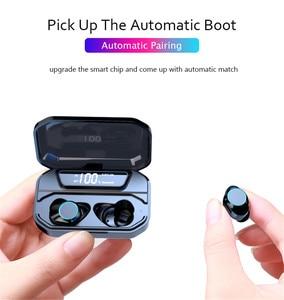 Image 5 - TWS Bluetooth 5.0 G02 Stereo Auricolare IPX7 Impermeabile Auricolari Senza Fili Auto Pairing Bluetooth Auricolare Sport Auricolare 3300mAh