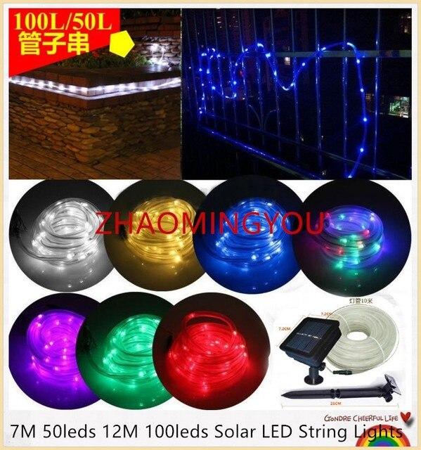 Solar Led String Lights Outdoor Stunning 60X 60M 60M 60600leds Solar LED String Lights Outdoor Rope Tube Led