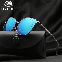 CIVICHIC 2017 New Personalized Lady Sunglasses Classic Mirror Coating Glasses Trendsetter Oculos De Sol Outdoor UV400 Gafas E263