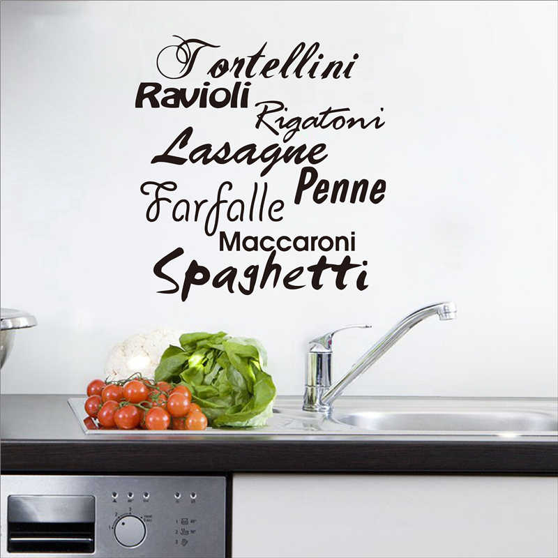 Detail Feedback Questions about Adesivo Murale Pasta Cucina ...