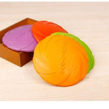 Dog toy New Large Flying Discs Rubber Trainning Puppy Favorite Disc Frisby Pet Toys