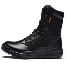 2018 Outdoor Black Army Boots Men's Military Desert Tactical Boot Shoes Breathable Combat Ankle Boots Botas Tacticos Zapatos недорого