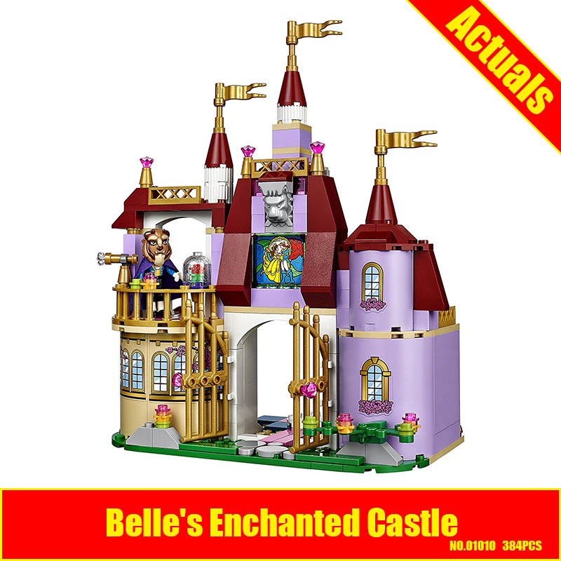 384PCS SET LEPIN Princess 41067 Belles Enchanted Castle Building Kit girls friends buliding blocks Christmas girls gifts