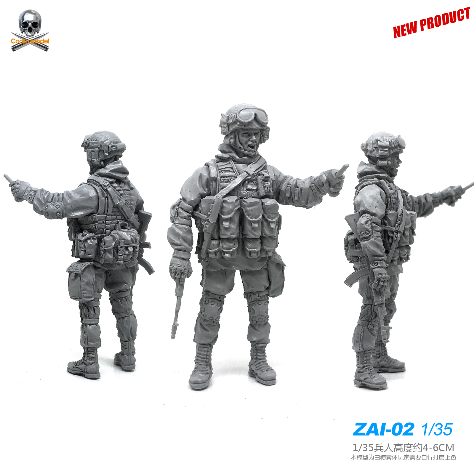 1/35 Resin Soldier Of Russian Special Forces (original Version)  Figure Kits Self-assembled Zai-02