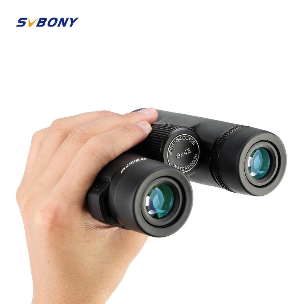 SVBONY Military Binoculars 8X42/10X42/8X32 BAK4 Prism SV47 HD Telescope Waterproof Zoom High Power Professional Telescope F9340