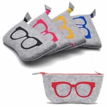 Multifunctional Personality Cosmetic Bag Unisex Soft Zipper Wool Felt Cloth Eyewear Accessories Glasses Bag Makeup Bags & Cases