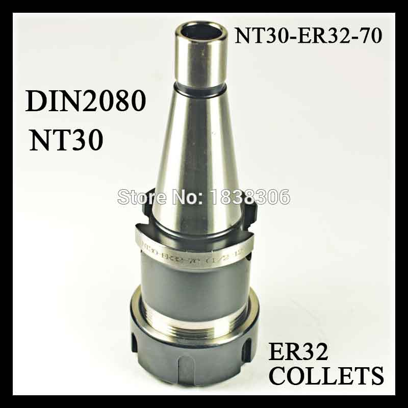 1 pcs NT30 Toohlholder ER 32 collet drill chuck DIN2080 COLLET CHUCK HOLDER FOR CNC machine MILLING LATHE TOOLS 1 pcs din2080 nt30 er16a 35 collet chuck holder for cnc milling lathe tools