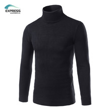 2017 New Arrival Men's Sweater Casual Turtleneck Slim Fit Knitted Men Sweaters Winter Pullovers M-3XL 5 COLOR