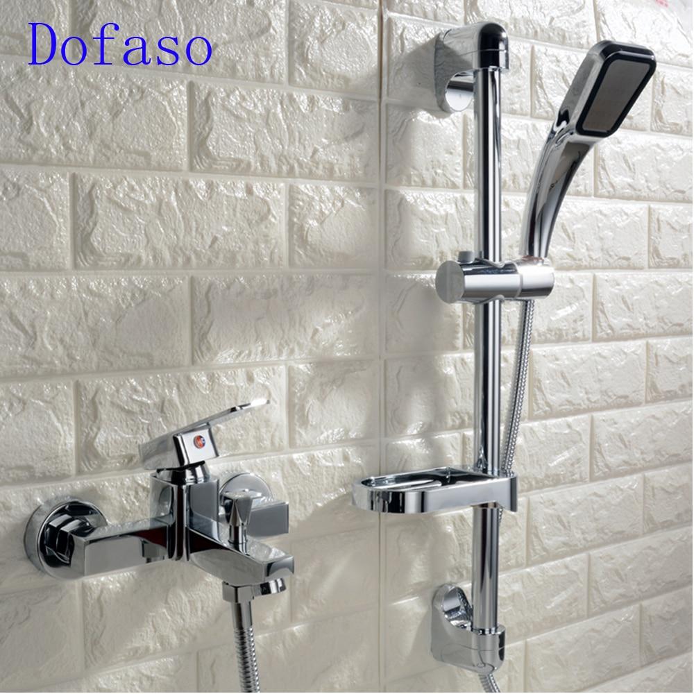 Dofaso wall mount shower simple bath shower faucet Home Improvement Equipment Bathtub & Showerhead Faucet Systems home improvement
