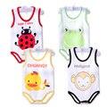 Niños pijamas Primavera verano chaleco del bebé recién nacido mamelucos sin mangas bolsa sleepping ropa del mono del bebé niñas niños ropa