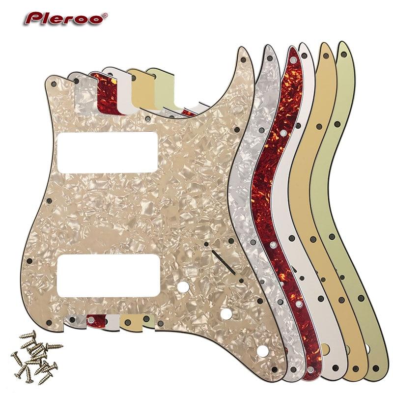 pleroo great quality guitar parts 2 p90 stratocaster guitar pickguard for us 11 screw holes. Black Bedroom Furniture Sets. Home Design Ideas