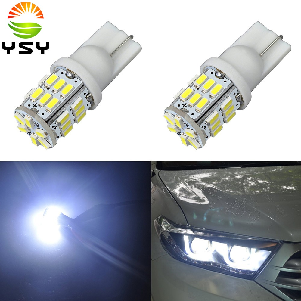 10X <font><b>T10</b></font> 158 194 168 W5W <font><b>3014</b></font> 30 smd Led Auto Car Wedge Interior Door License Light Plate Bulb Lamp Car Light Source 12V DC image