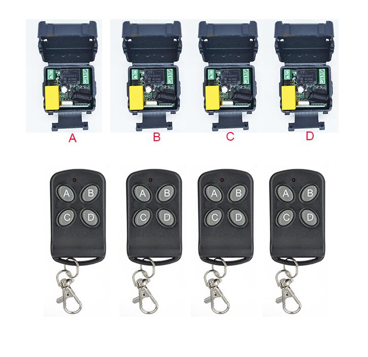 AC220V 220 V 1CH 10A RF Wireless Remote Control Relay Switch Security System Garage Doors Gate Electric Doors 433MHZ
