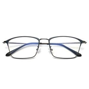 Image 2 - Titanium Alloy Glasses Frame Men Ultralight Women Vintage Prescription Eyeglasses Anti blue Ray Optical Frame  Eyewear 9007