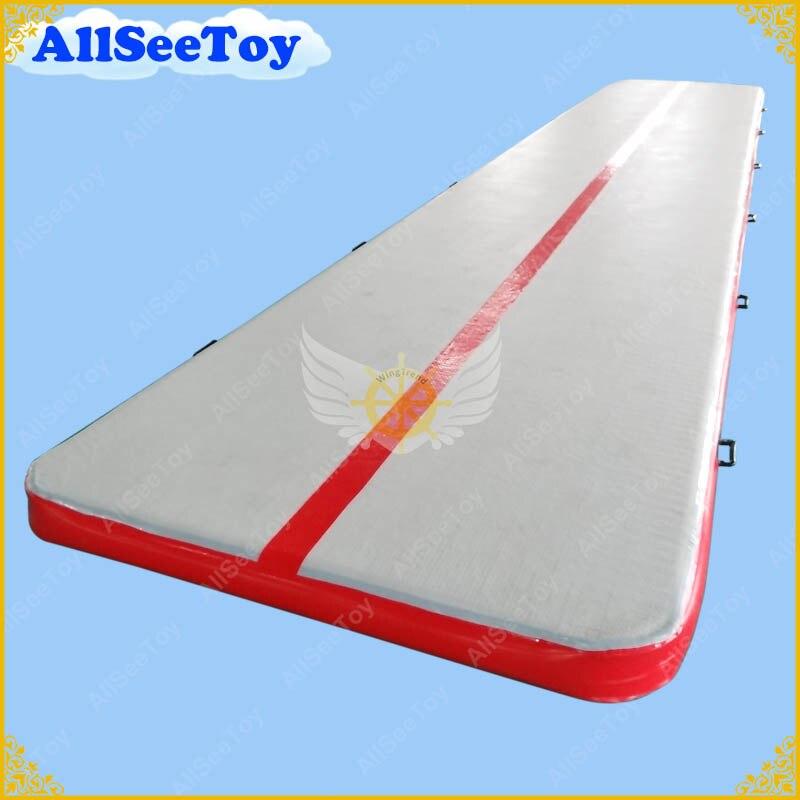 Airtrack gonflable de 8 m x 2 m à vendre, voie gonflable de dégringolade d'air, gymnastique gonflable de voie d'air
