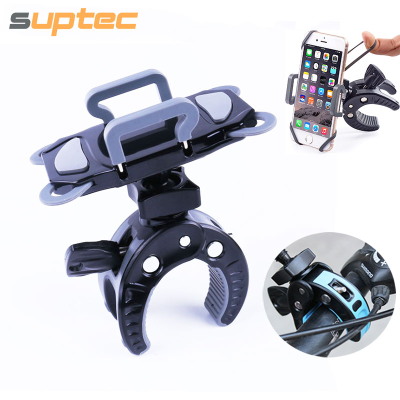 SUPTEC Bicycle <font><b>Phone</b></font> <font><b>Holder</b></font> Universal 360 Rotatable <font><b>Bike</b></font> Motorcycle Handlebar Mount for iPhone 5 5s 6 6s 7 plus Samsung S5 S6 S7 image