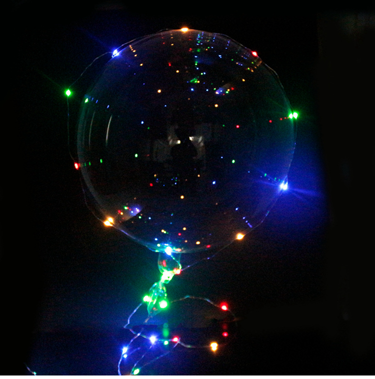 FUDANL 50set Luminous Led Balloons Clear Bubble Balloon With 3M Led Strip Copper Wire for Wedding Birthday Party Decoration Toys