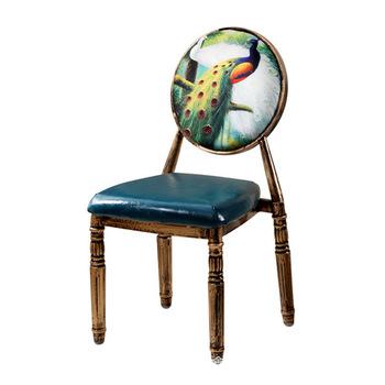Krzesła do salonu meble do salonu meble do domu żelaza jadalnia krzesło krzesło kawowe retro krzesła do restauracji z 46*47*92 cm sprzedaż tanie i dobre opinie Salon krzesło Minimalistyczny nowoczesny Nowoczesne 46*47*92cm Ecoz Metal Rozrywka krzesło iron