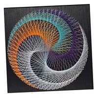 Vintage String Craft Geometric D Figure String Art Kits DIY Home Decor for Adults 40x40cm