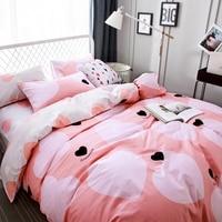 Hart dekbedovertrek 100% katoen sprei roze dekbed covers beddengoed kussensloop Queen size beddengoed set voor volwassenen bed beddengoed