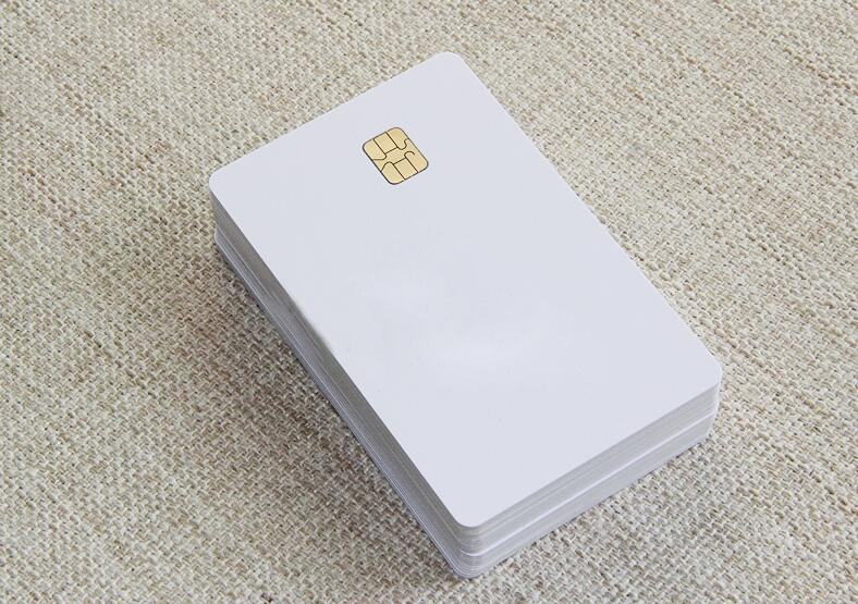 ISO Blank White Pvc SLE4442 Chip Plastic Contact Smart Card-20pcs(China)