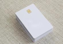 Card 20pcs intelligent de contact en plastique blanc de puce de pvc SLE4442 doin