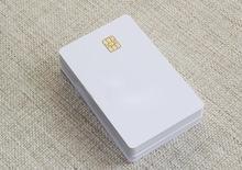 Iso branco branco pvc sle4442 chip plástico contato inteligente card 20pcs