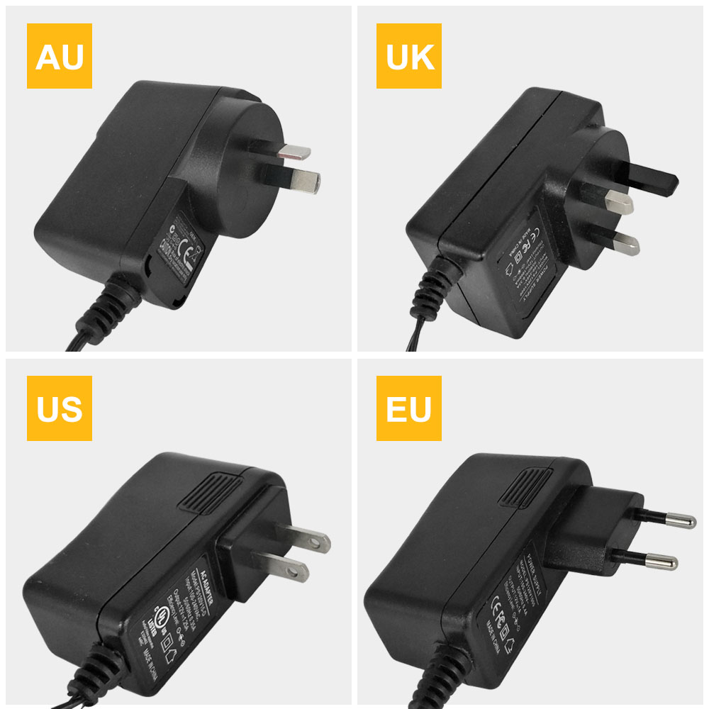 UL List Regulated Power Adapter AC 100-240V To DC 12V 1A Switch Switching Power Supply Adapter