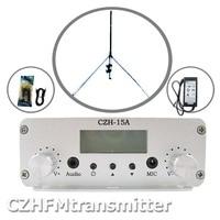 CZE 15A 15 Вт стерео PLL FM передатчик вещатель GP телевизионные антенны мощность комплект