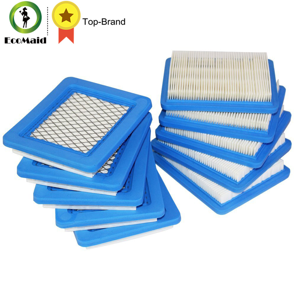 цена на 10pcs Air Filter Replacement for Briggs & Stratton 491588 491588S 4915885 399959 Filter Lawn Mower Accessory