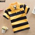 Famli 4y-16y adolescente camiseta crianças menino ocasional do verão de algodão listrado curto T-shirt da luva Tops 8 10 12 14 16 T camisa Dos Miúdos T