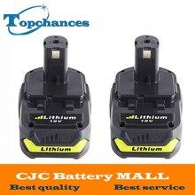 2×18 В 2500 мАч литий-ионный Перезаряжаемые Батарея для Ryobi RB18L25 One Plus для электроинструментов заменить P103, p104, P105, P108